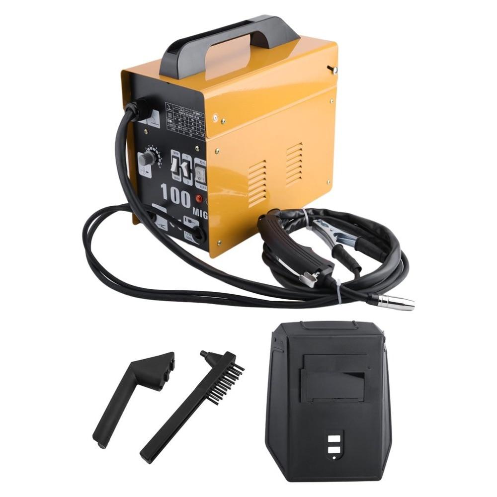 цена на (Ship From DE)MIG100 Gas-Shielded Welding Machine Professional Electric Welding Machine Durable MIG Weldering Equipment EU Plug