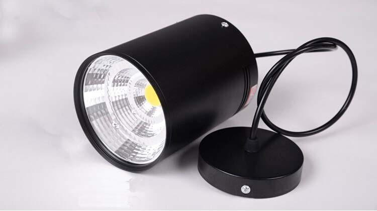 COB 7W/10W/15W/20W/30W Lamp,Shell:White Black;Light:Warm 1