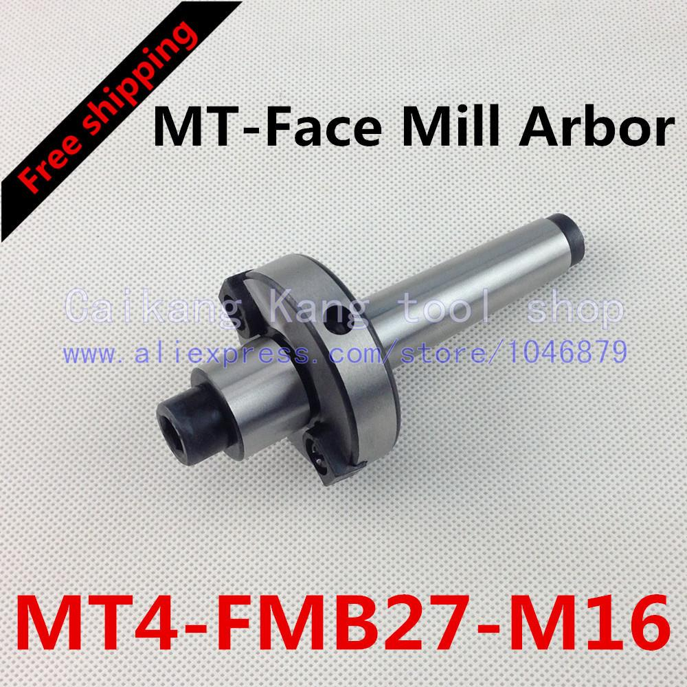 Free shipping New CNC tool holders MT4-FMB27-M16 Morse Face Mill Arbor Shell end mill arbor new face mill arbor cat40 fmb27 60l cnc milling arbor