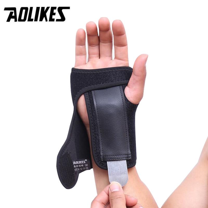 Adjustable Hand Brace Sport WristBand Safe Steel Wrist Support Splint Arthritis Sprains Strain Hand Thumb Bandage Wrist Wraps