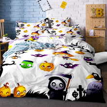 3D Halloween Bedding Set Skull Marylin Monroe Duvet Cover Twin Full Queen King Sugar