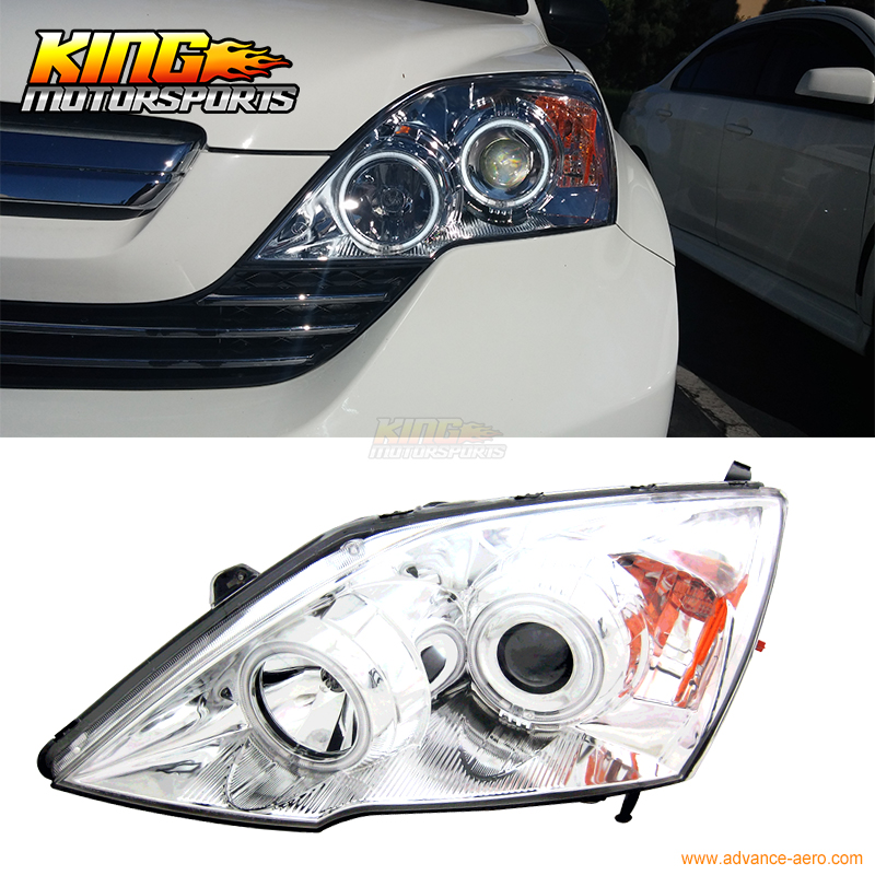For 2007-2008 Honda CR-V CCFL Halo Projector Headlights Chrome USA Domestic Free Shipping for 2004 2008 ford f150 chrome vertical front hood grill grille usa domestic free shipping hot selling
