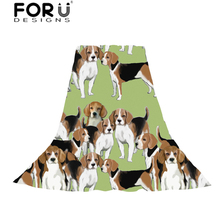 FORUDESIGNS Scarves Women Basset Hound Print Slik Scarf Light and Thin Ladies Lovely Puppy Pattern for Females Shawl