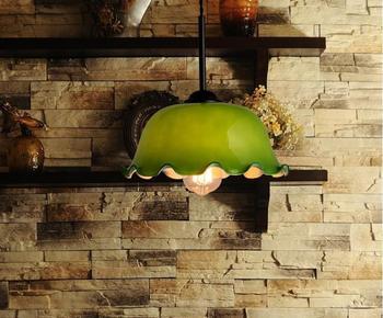 Retro Persönlichkeit Einzigen Glas Anhänger Lichter Küche Cafe Bar Lampe Chinesischen Lotus Lampe Schatten Alten Shanghai Kleine ZH ZS107