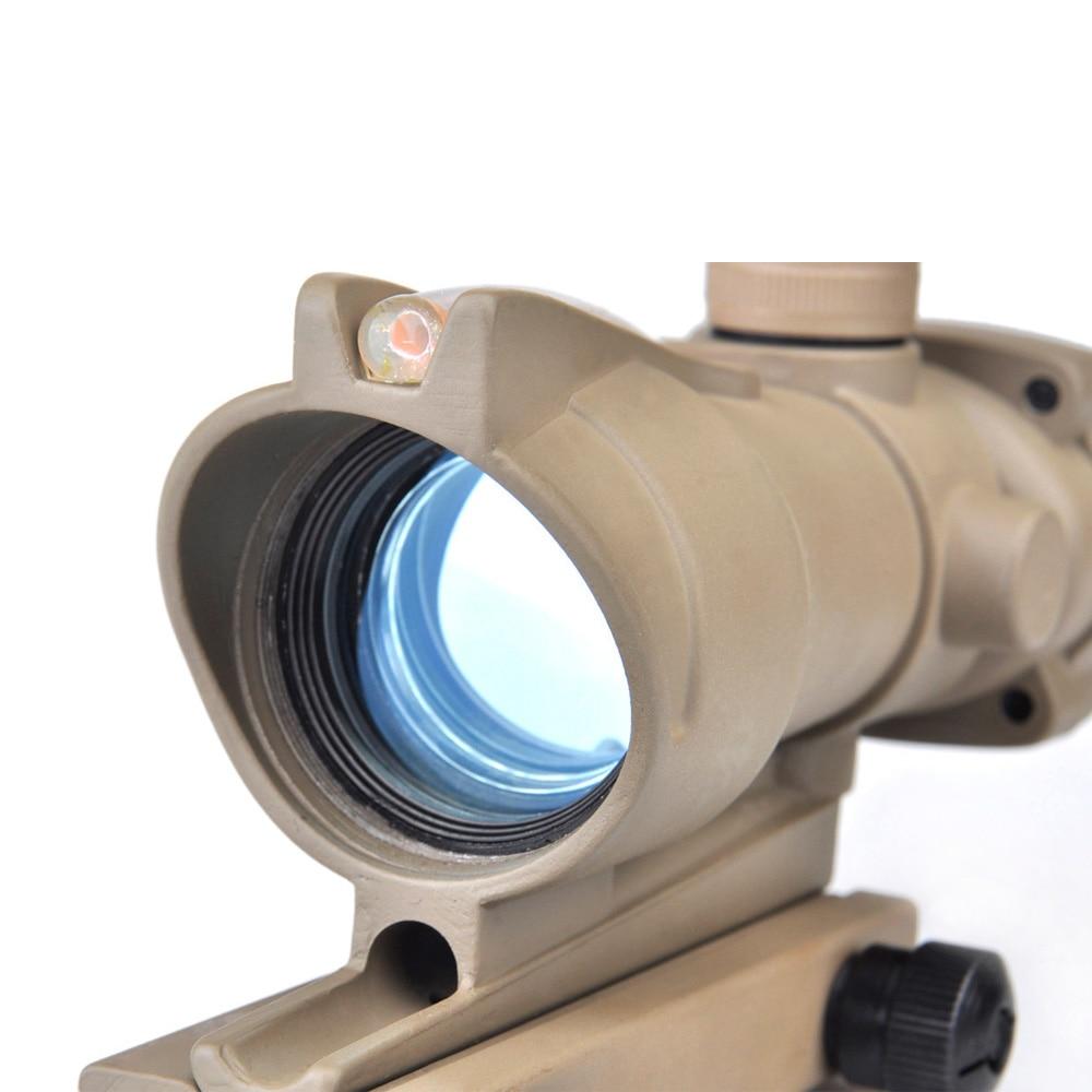 Tactical ACOG 4x32 Optics Sight Red Fiber Optical Gun Scope Duel Illuminated Riflescope Airsoft Hunting Rifle Shotgun Scope Lens tactical 4x32 rifle scope red dot green optics fiber hunting shooting m9430