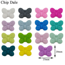 Chip Dale 20pcs Butterfly Silicone Beads Food Grade Teething Bite Molar Teether Beads DIY Pacifier Necklace Making
