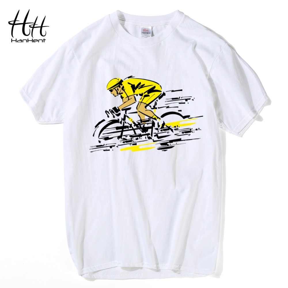 Hanhent Sepeda Baru T-shirt Pria Atasan Katun Tee Longgar Musim Panas T Shirt 2017 Streetwear Kebugaran Tee Shirt CrossFit anak Laki-laki
