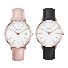 BRATHWAIT Womens Ladies Simple Watches Top Brand Fashion Faux Leather Analog Quartz Wrist Watch Clock Saat Gift цена