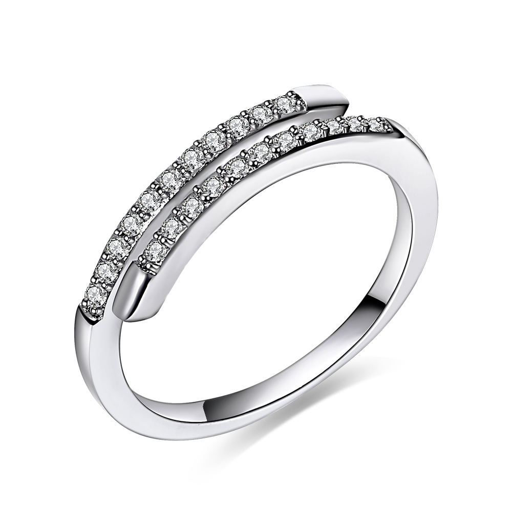Wedding Rings For Wmone Top Quality Simple Aaa Cubic