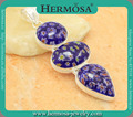 """New Arrival Charming Flower Murano Glass Women Rushed Fashion Silver Gems Pendant GM1509,3 1/2"""" Free Shipping"""
