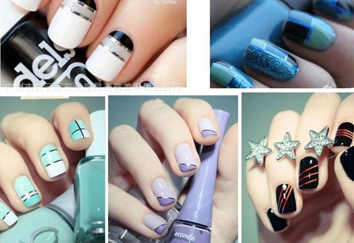 Beautiful Nail Arts » Nail Art Tape Strips - Inspiring Pictures of ...