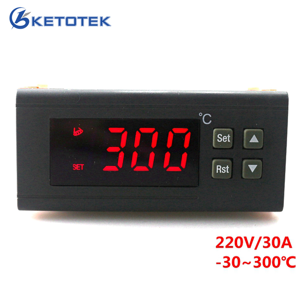 220 V/30A controlador de temperatura Digital RC-114M salida de relé del termostato-30 ~ 300 grados con Sensor NTC