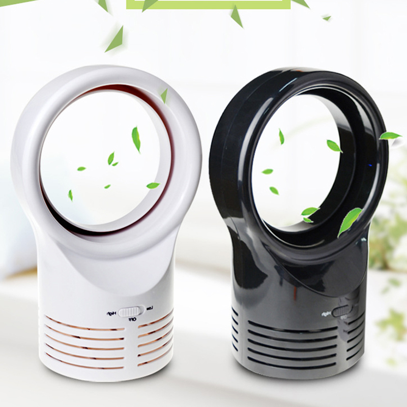 Mini USB Fan Without Blade Fan For Home Office Laptop PC Fan Portable Electric Fan With Double Side Desktop Fan Blades