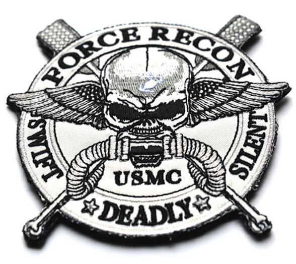 Usmc Tactical Patch Geborduurde 3d Haak Patch Force Recon Stille