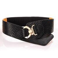 Hot Crocodile Pattern Punk Style Belt Women High Quality PU Leather Waistband Lady Fashion Elastic Belt
