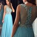 Longos Vestidos de Baile para Meninas Cristais A Linha Lantejoula Prom Vestidos de Mulher Festa de Formatura longos vestidos de formatura