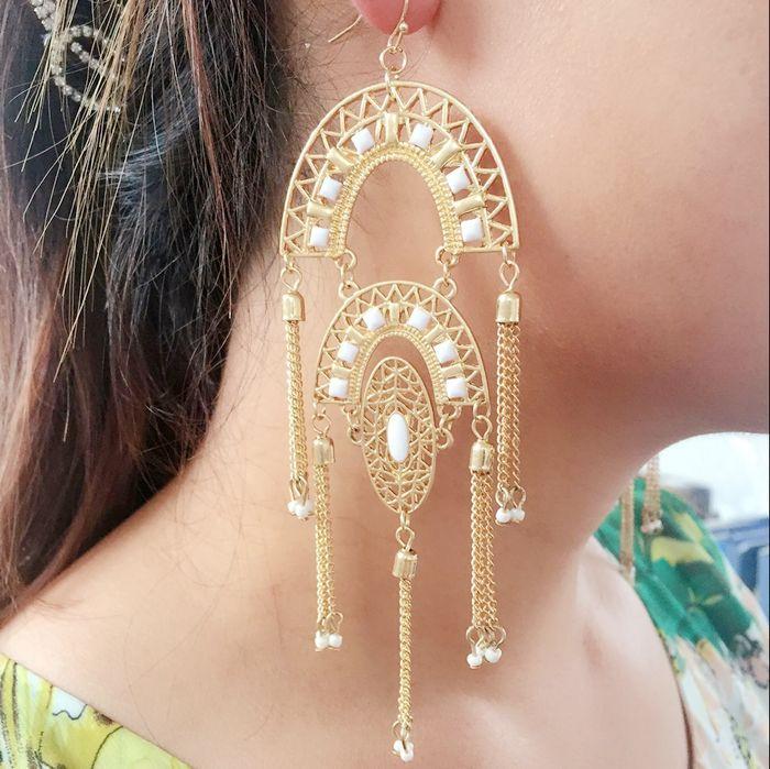 Whole Stella Jewelry Mirage Pendant Earrings Gold Tassel Long Pearl Chandelier 2017 In Drop From Accessories On