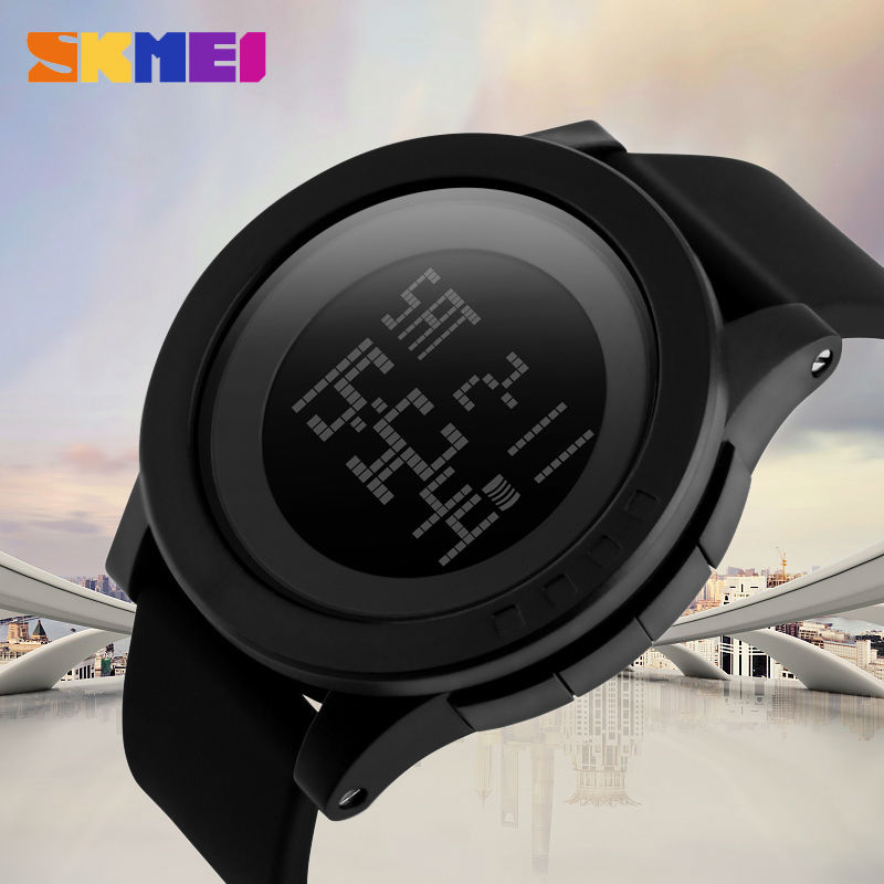 Large Dial Outdoor Men Sports Watches LED Digital Wristwatches Waterproof Alarm Chrono Calendar Fashion Casual Watch 1142 SKMEILarge Dial Outdoor Men Sports Watches LED Digital Wristwatches Waterproof Alarm Chrono Calendar Fashion Casual Watch 1142 SKMEI