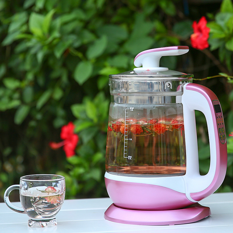 Electric kettle Fully automatic thickened glass multi-function electric heating black tea pot boiling Safety Auto-Off Function fully automatic thickened glass multi function electric heating kettle flower pot boiling tea ware anti dry protection