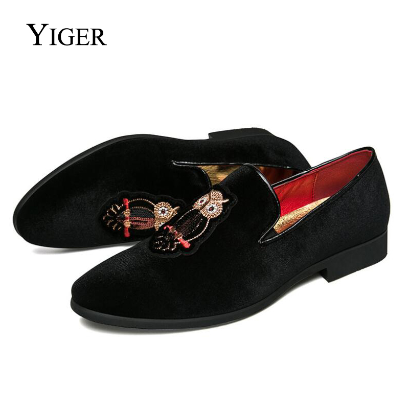 YIGER New Man Loafers Slip-on Tip Toe Peas Shoes Men Casual Cotton - Men's Shoes - Photo 2