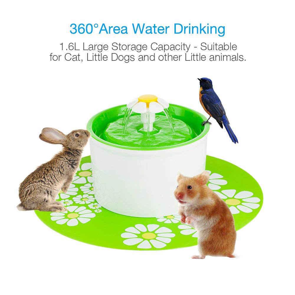 3 in 1 자동 개 물 분수 피더 애완 동물 물 디스펜서 대형 봄 음주 필터 정수기 1.6l 개 피더