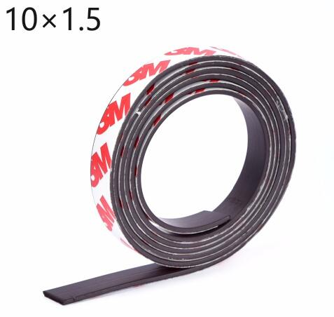 1 Meter self Adhesive Flexible Magnetic Strip 3M Rubber Magnet Tape width 10mm thickness 1.5mm 10*1.5 new 3 meter 12 7 x 1 5mm self adhesive rubber magnetic tape magnet strip strong suction can cut a variety of shapes diy