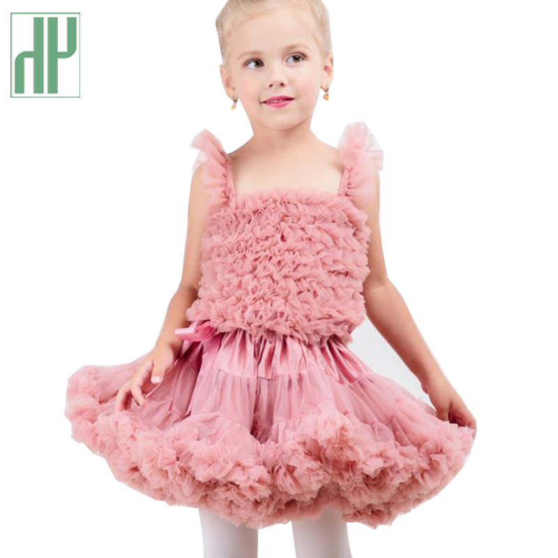 Baby girls skirts children Ballerina Pettiskirt dance ruffle skirt kawaii clothes Princess tulle tutu skirt kids party costume ruffle hem lace skirt