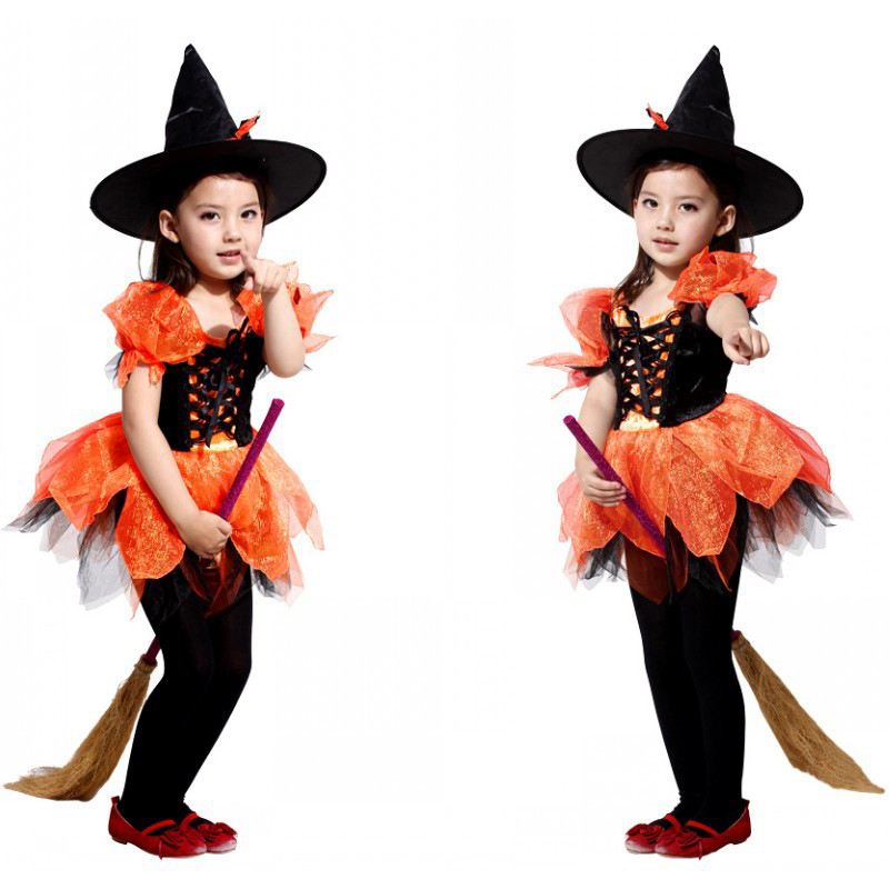 Quality new Halloween children cosplay costumes children magic anime witches play clothes Christmas party costumes girls' pettis