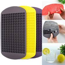 160 Grids Food Grade Silicone Ice Tray Fruit Ice Cube Maker DIY Creative Small Ice Cube Mold Square Shape Kitchen Accessories(China)