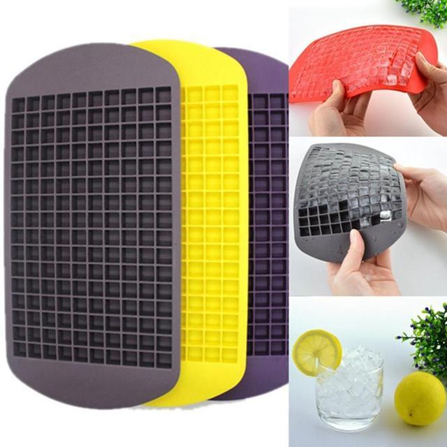 160 Grids Food Grade Silicone Ice Tray Fruit Ice Cube Maker Diy Kleine Vierkante Vorm Keuken Drankjes Accessoires Ice Cube mold