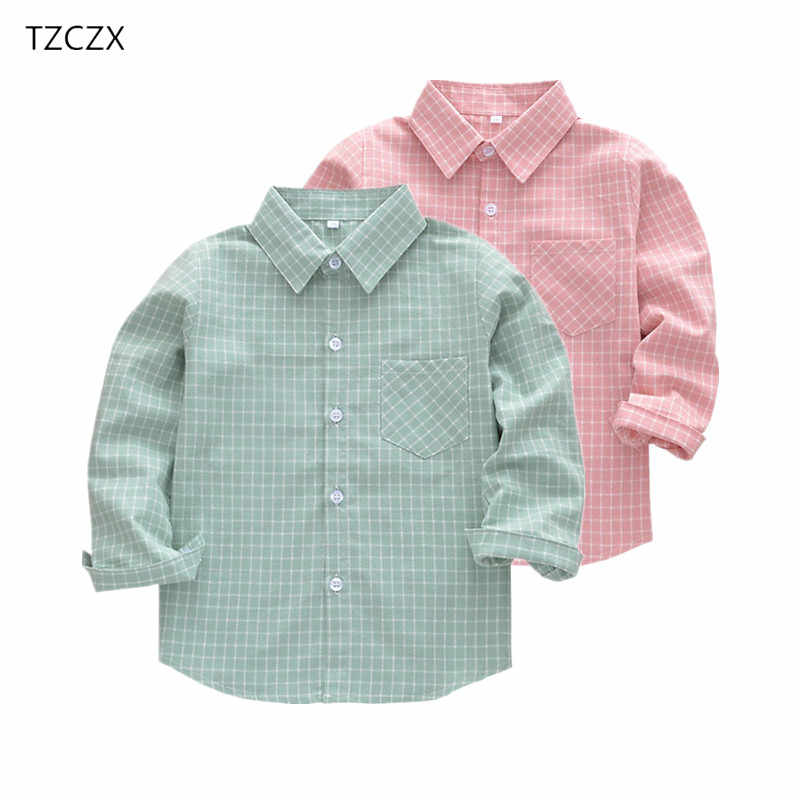 New Children Boys Shirts Fashion Classic Casual Plaid For 3-11 Years Kids Boy Spring/Autumn Wear Clothes