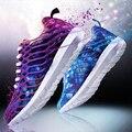 Женщины повседневная обувь весна новая мода камуфляж спортивная обувь мужчины, босоножки, плоские туфли воздухопроницаемой сеткой повседневная обувь