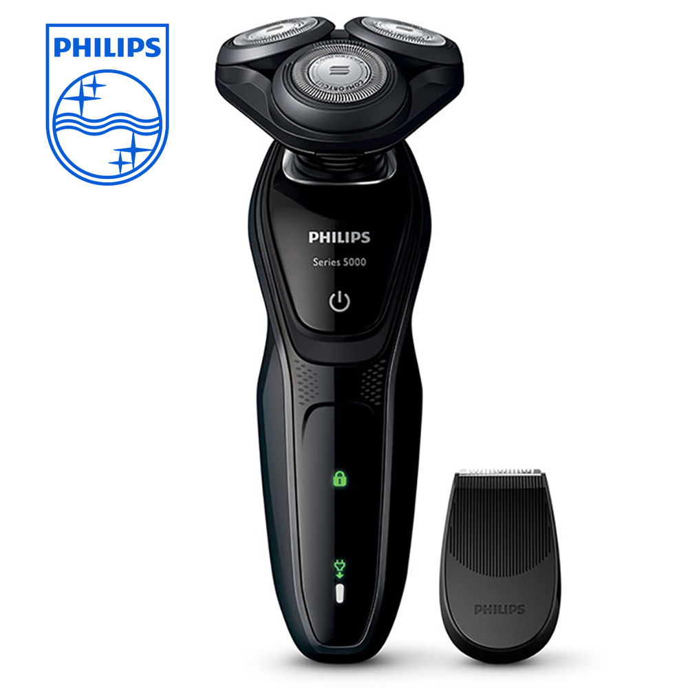 Philips Shaver 3D Floating Head S5079 Dry and Wet Electric Shaver with Fast Charge Triple Blade for Men 100-240V Waterproof