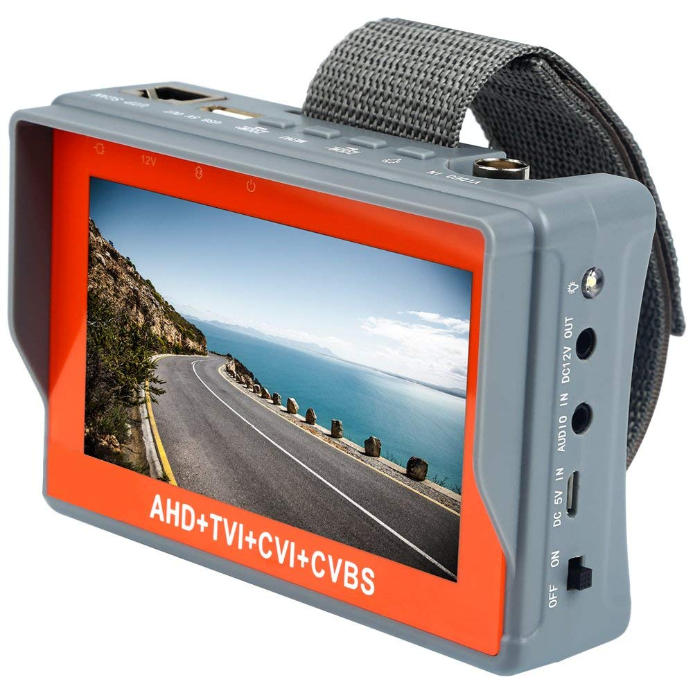 Anpviz 5MP AHD CCTV Tester 4 In 1 For AHD TVI CVI CVBS Analog Camera Security Monitor With 4.3-Inch LCD Screen 5V 2A, 12V 1A security tester cctv ptz security camera tester 2 8 lcd display digital zoom 12v 1a output capacity 3000mah