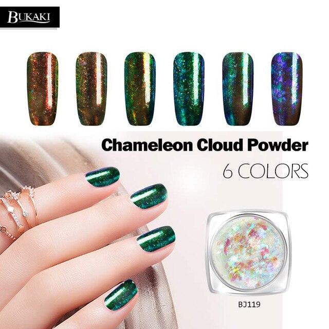 BUKAKI Colorful Cloud Chameleon Nail Sequins Glitter Holographic ...