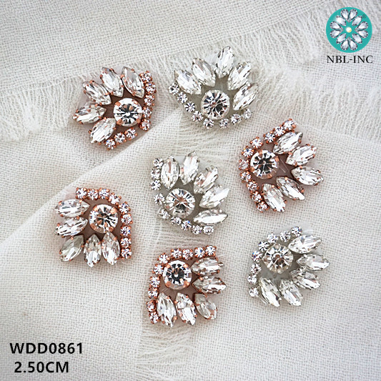 100pcs Wholesale hand beaded crystal rhinestone applique iron on for dresses hair accessories WDD0861