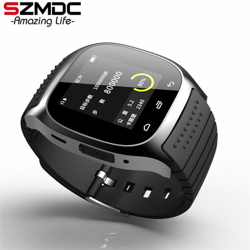 SZMDC Sport Bluetooth Smart Uhr Luxus Armbanduhr M26 mit Zifferblatt SMS Erinnern Pedometer für Samsung LG HTC IOS Android-Handy