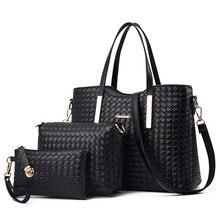 LAUWOO сумки для женщин сумки на плечо Сумка Хобо 3 шт. сумка+ Сумочка+ кошелек набор