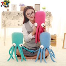 60cm Cartoon Plush Octopus Toy Creative Stuffed Lucky Fish Ocean Animal Doll Birthday Gift Home Shop Restaurant Decor Triver 80cm simulation animal lifelike octopus plush toy throw pillow creative stuffed lucky fish ocean animal doll decoration gift