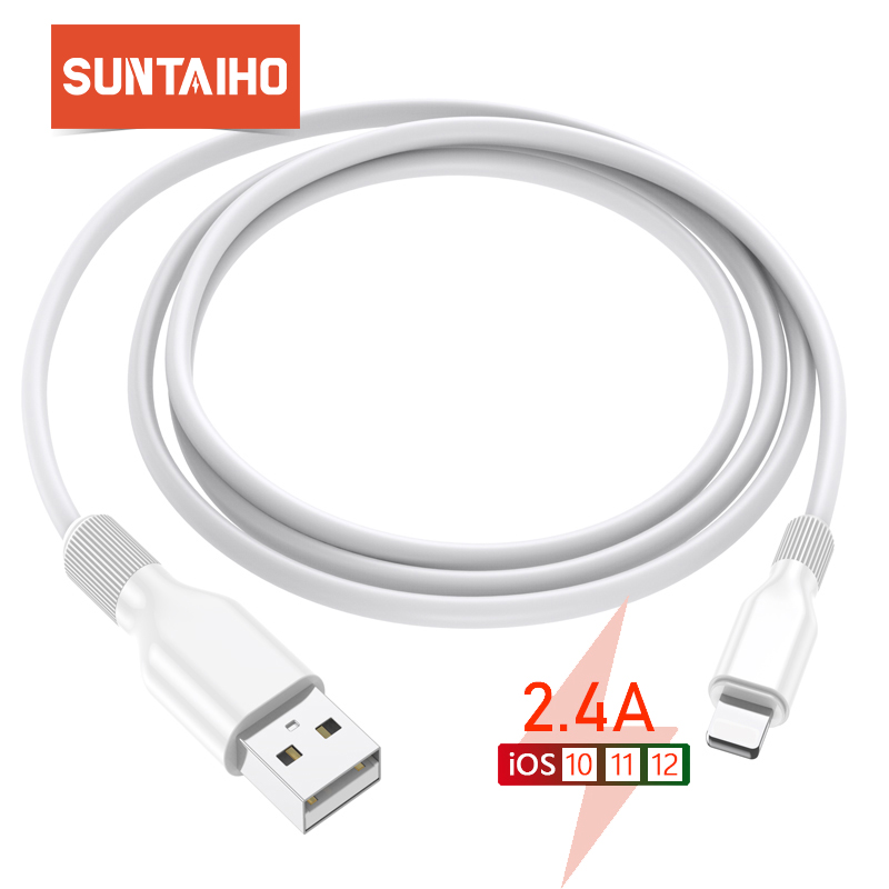 Suntaiho USB Cable for iPhone XR X 7 2.4A fast Charging Cable for iPhone XS MAX 8 7 6 6s plus USB Data Cable Phone Cord Adapter|Mobile Phone Cables|   - AliExpress