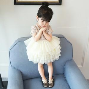 Image 4 - Boutique toddler girls lace dress children evening dress luxury baby 12M 6years tweed fabric gauze dress kids cake dresses