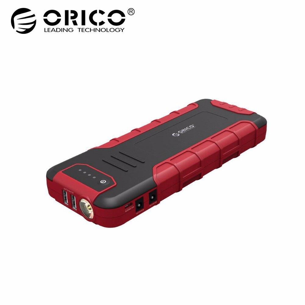 ORICO многофункциональный мини автомобиль скачок стартер бустер Мощность Bank 18000 мАч QC3.0 Батарея Зарядное устройство для 12 В 10A 19 В 3.5A
