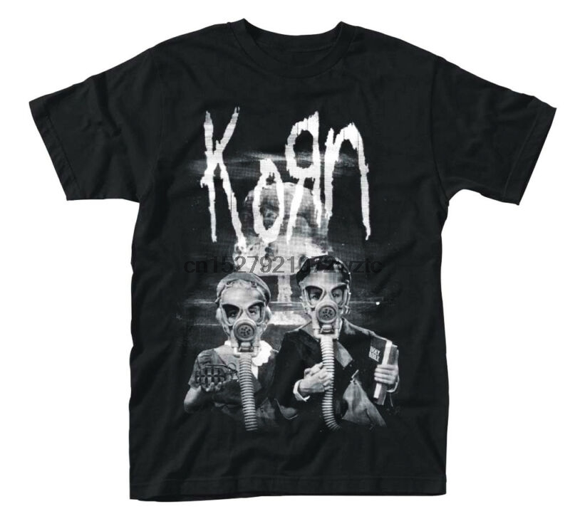 Delightful Colors And Exquisite Workmanship Korn Gas Mask Kids Shirt S M L Xl Xxl Officl T-shirt Metal Rock Band Tshirt New Famous For Selected Materials Novel Designs