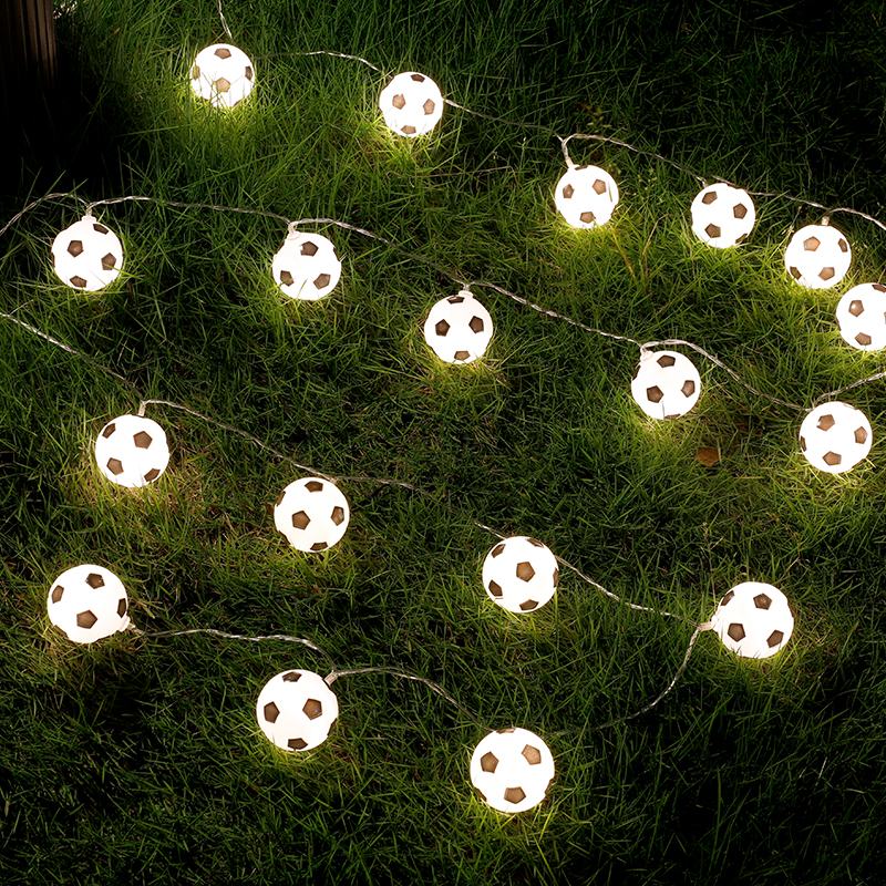 JSEX LED Luzes Da Corda Bola Branca Noite Férias Garland Fada Futebol Ao Ar Livre Da Lâmpada de Iluminação de Decoração Para Casa