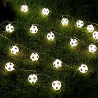 JSEX LED cadena luces bola blanca noche vacaciones iluminación guirnalda Hada fútbol lámpara exterior decoración del hogar