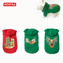2017 New Pet Dog Christmas Clothes Pet Autumn Winter Warm Jacket Sweater Dog Suit Hoodie Dog Holiday Christmas Pattern Clothes