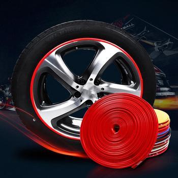 Chaude 8 M voiture roue Protection roue autocollant bande décorative Protection des pneus soins couverture goutte bateau voiture forme Modification