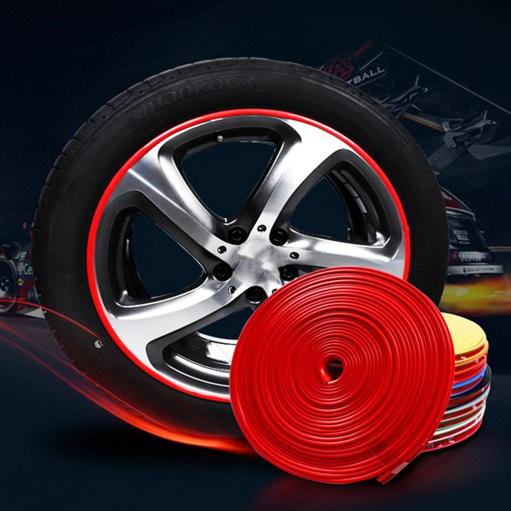 Hot 8 M Car Wheel Protection Wheel Sticker Decorative Strip Tire Protection Care Cover Drop Boat Car Shape Modification