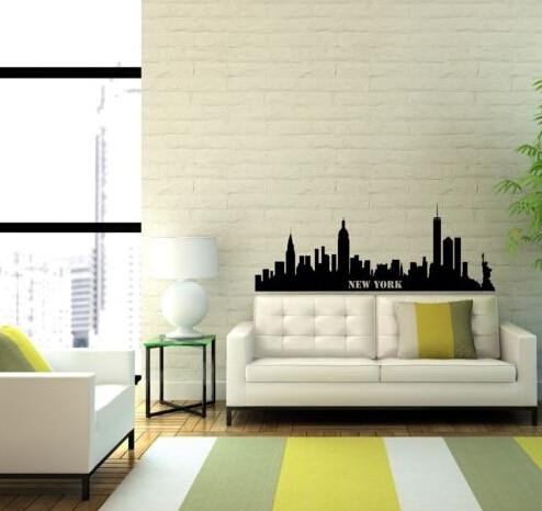free shipping new york city skyline wall art sticker decal diy home