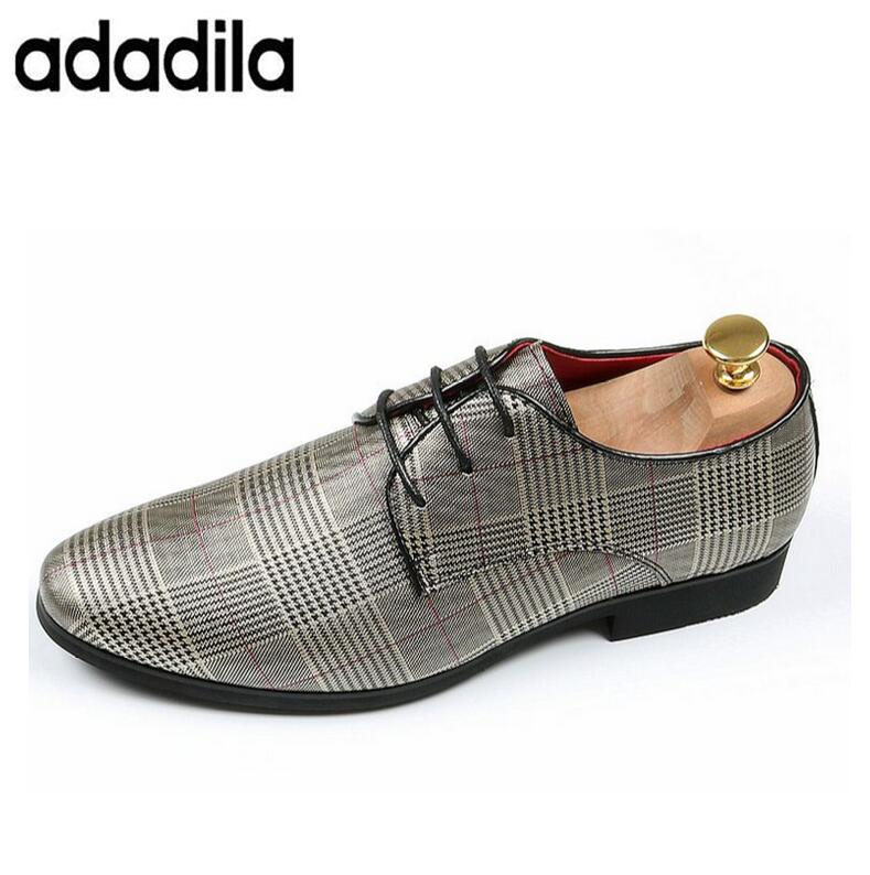 Casual Damier Cuir Promotion Nouveau Mode De silver Appartements Grey Luxe À Mocassins Main La En Hommes Chaussures wv0n8mN